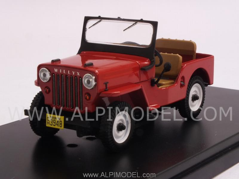 Jeep Willys CJ3B 1953 (Red) by premium-x
