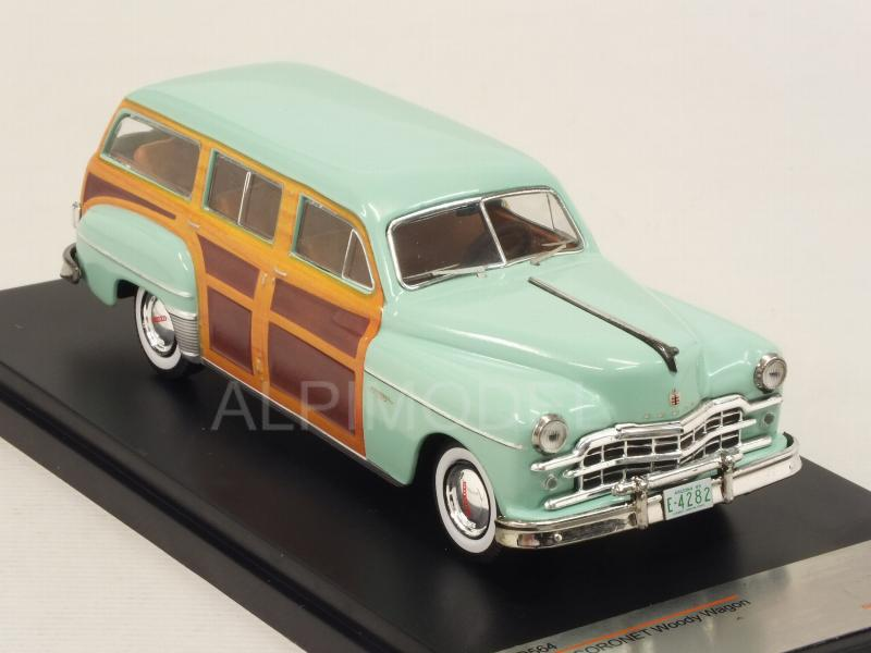 Dodge Coronet Woody Wagon 1949 (Metallic Green/Woody) - premium-x