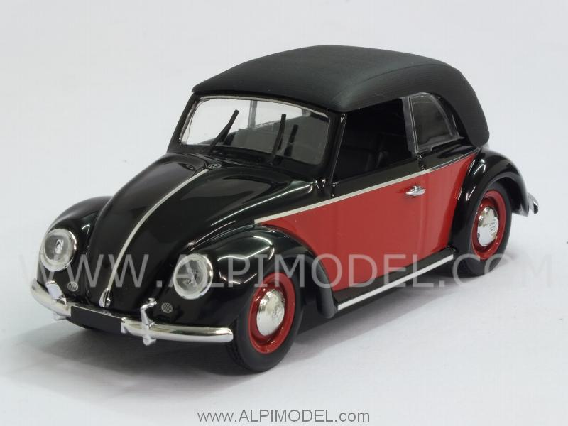 Volkswagen Beetle Cabriolet Karmann 1949 (Black/Red) by rio