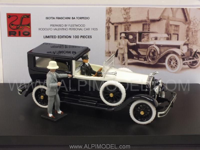 Isotta Fraschini 8A Torpedo Fleetwood 1925 Rodolfo Valentino (with 2 figurines) by rio