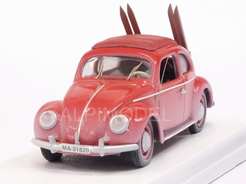 Volkswagen Beetle 1953 (Red) con sci/with skis by rio