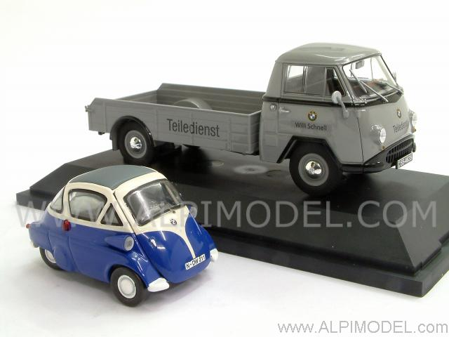 Tempo Matador  'BMW Teiledienst' with BMW Isetta - schuco