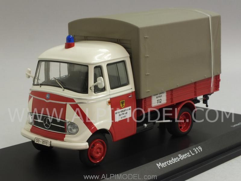 schuco 450291600 mercedes l319 fire brigades dortmund 1 43. Black Bedroom Furniture Sets. Home Design Ideas