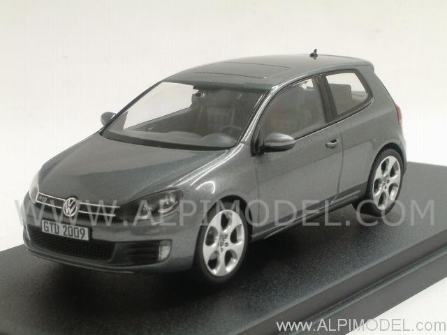 schuco volkswagen golf vi gtd 2009 grey metallic vw promo 1 43 scale model. Black Bedroom Furniture Sets. Home Design Ideas