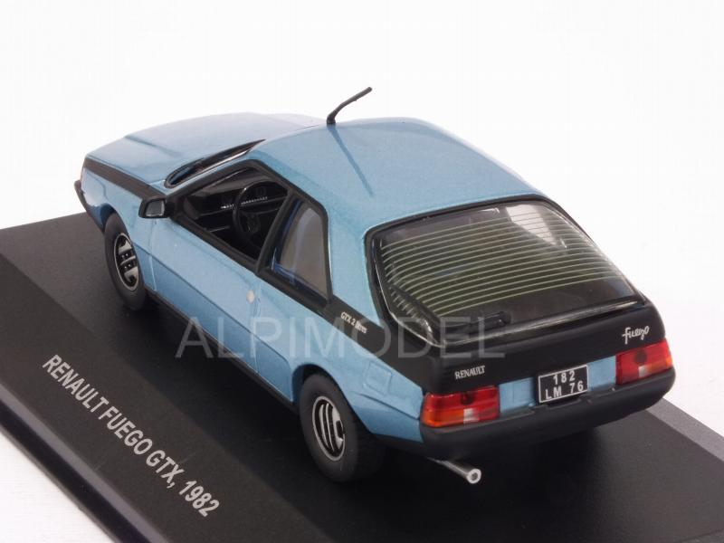 MINIATURE CAR MADE FRANCE SOLIDO RENAULT FUEGO BLUE METAL ... |Blue Renault Fuego