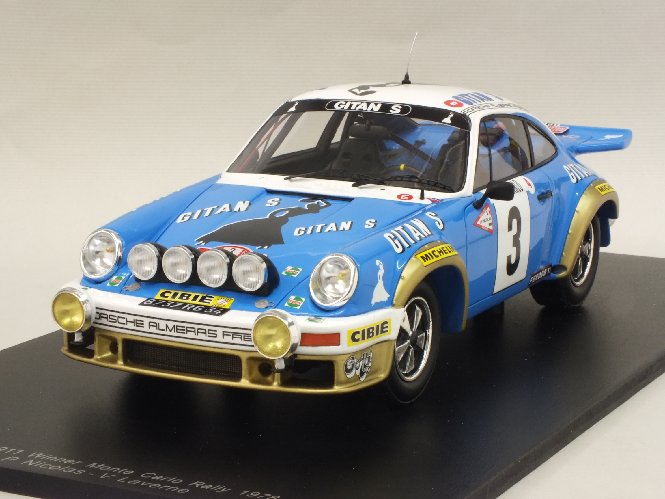 Porsche 911 #3 Winner Rally Monte Carlo 1978 Nicolas - Laverne by spark-model