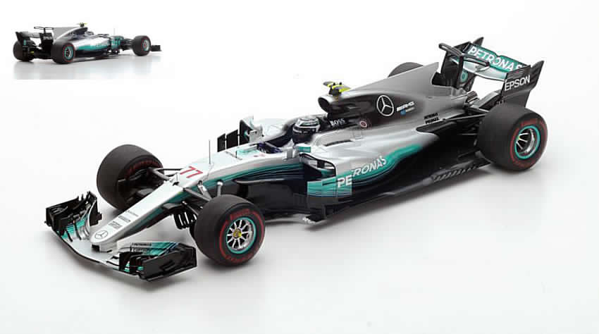 Mercedes W08 AMG #77 GP Bahrain 2017 Valtteri Bottas by spark-model