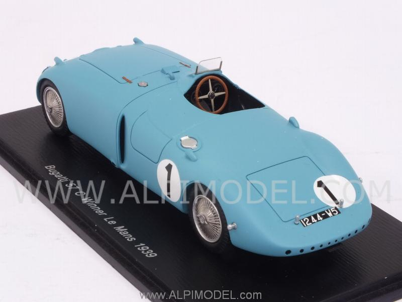 spark model 43lm39 bugatti 57c 1 winner le mans 1939 wimille veyron 1 43. Black Bedroom Furniture Sets. Home Design Ideas