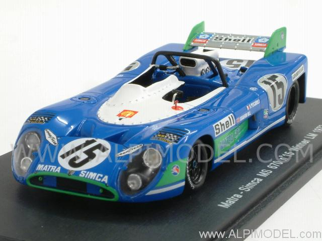 Matra Simca MS670 #15 Winner Le Mans 1972  Pescarolo - G.Hill by spark-model