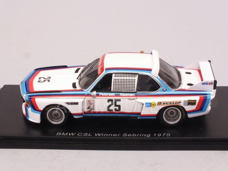 Spark 43SE75 Redman   1//43 BMW 3.0 CSL N°25 Vainqueur 12H Sebring 1975  B