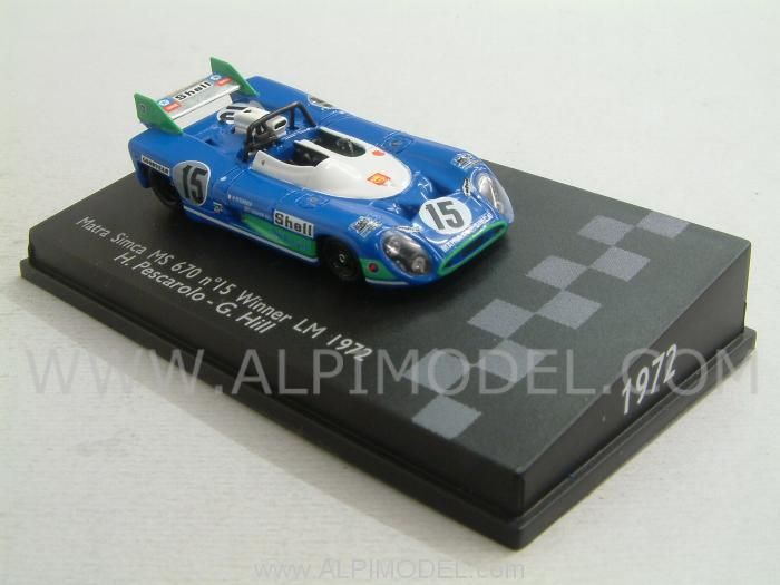 Matra Simca MS670 #15 Winner Le Mans 1972 (H0 1/87 scale - 5cm) by spark-model