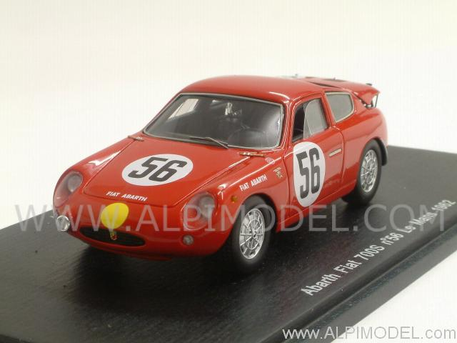 Abarth Fiat 700S #56 Le Mans 1962 Masson - Zeccoli by spark-model