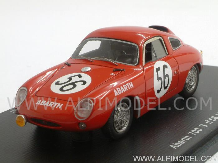 Abarth 700S #56 Le Mans 1961 Sala - Rigamonti by spark-model