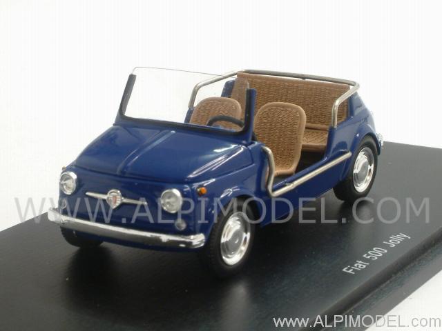 Spark Model S1496 Fiat 500 Jolly 1962 Dark Blue 1 43