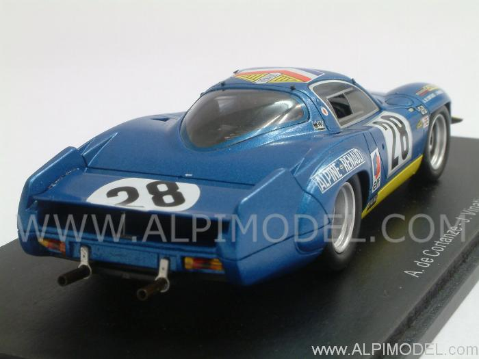 spark model alpine renault a220 28 le mans 1969 de cortanze vinatier 1 43 scale model. Black Bedroom Furniture Sets. Home Design Ideas