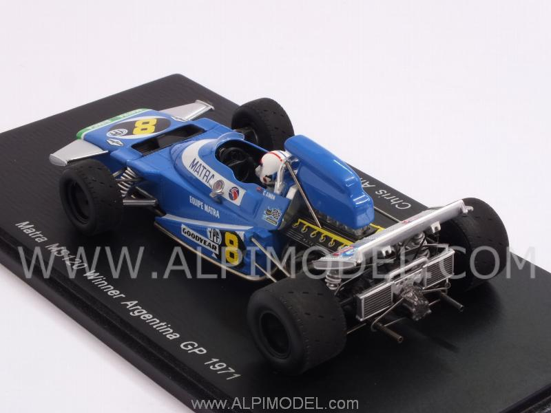 Matra MS120B #8 Winner GP Argentina 1971 Chris Amon - spark-model