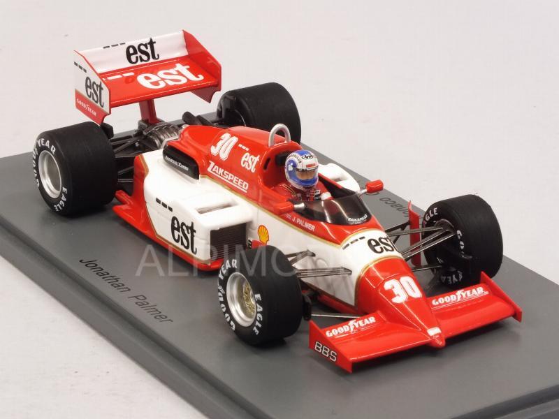 Jonathan palmer Zakspeed 841 #30 Monaco GP fórmula 1 1985 1:43 Spark