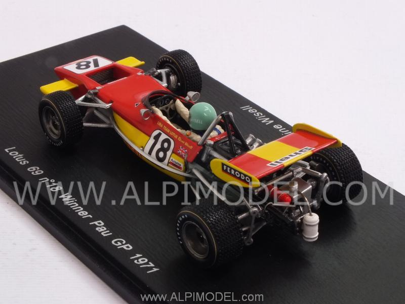 Lotus 69 #18 Winner GP Pau 1971 Reine Wisell - spark-model