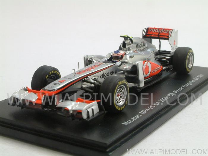 McLaren MP4/26 Mercedes - 200th GP -  Winner GP Hungary 2011 Jenson Button by spark-model