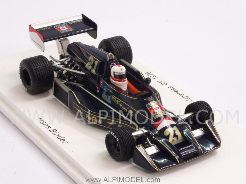 Wolf Williams FW05 #21 GP Japan 1976 Hans Binder - spark-model