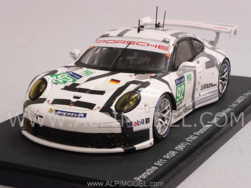 Spark Model Porsche 911 Rsr 991 92 Le Mans 2014 Holzer