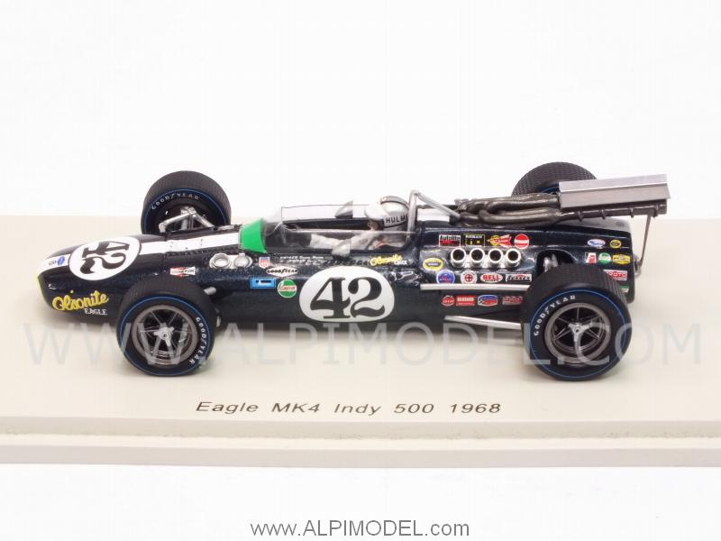 Spark Model S4258 Eagle Mk4 42 Indy 500 1968 Denny Hulme 1 43
