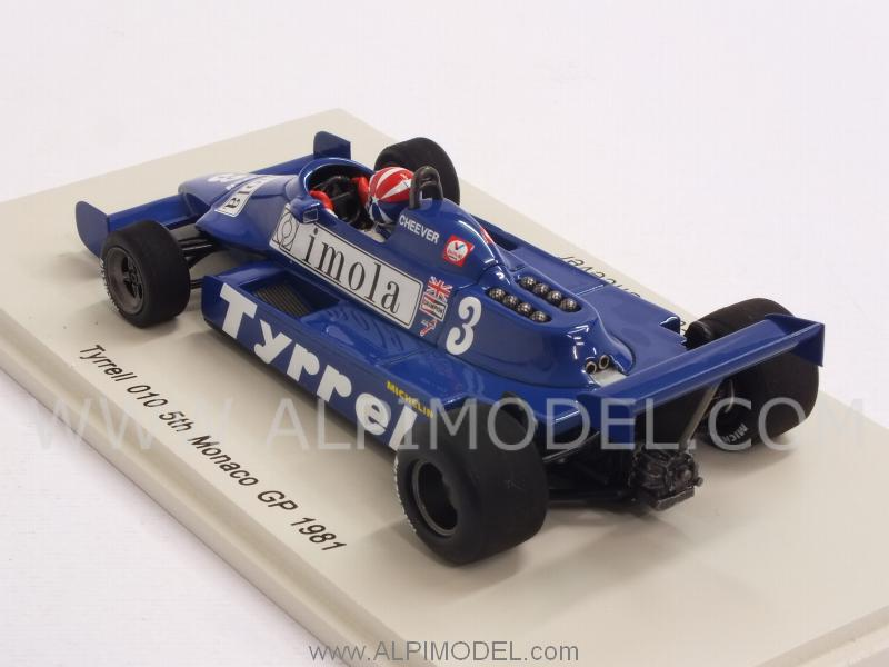 Tyrrell 010 #3 GP Monaco 1981  Eddie.Cheever - spark-model
