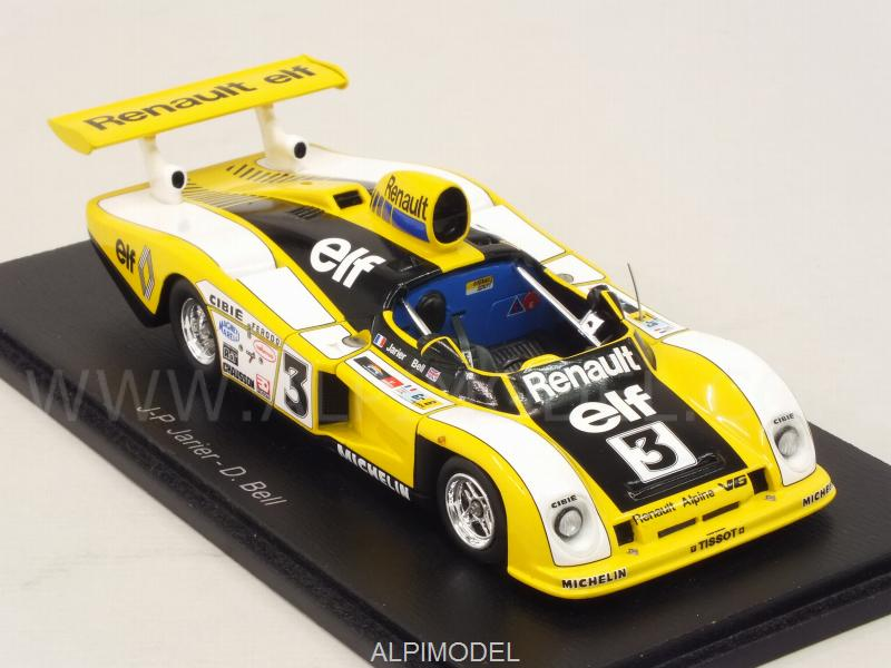spark model s4377 alpine renault a442 3 le mans 1978 jarier bell 1 43. Black Bedroom Furniture Sets. Home Design Ideas