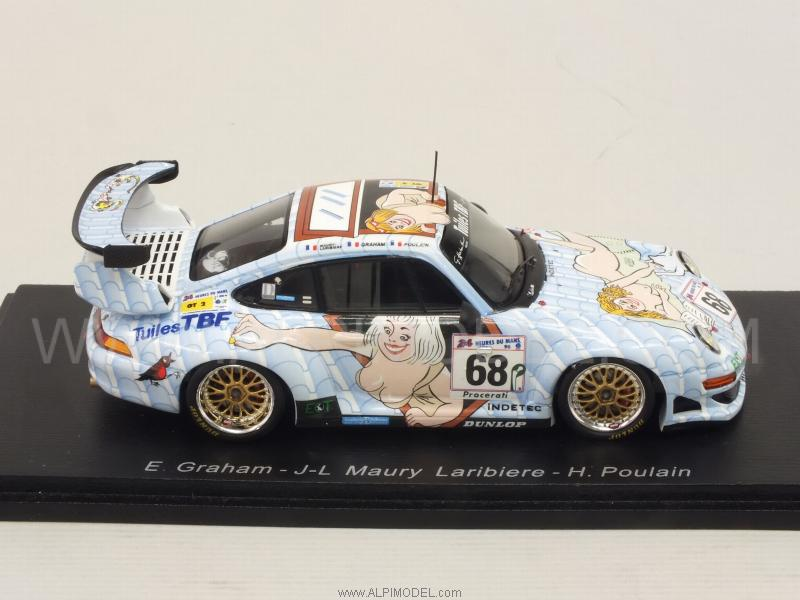 spark model s4448 porsche 911 gt2 68 le mans 1998 graham laribiere poulain 1 43. Black Bedroom Furniture Sets. Home Design Ideas