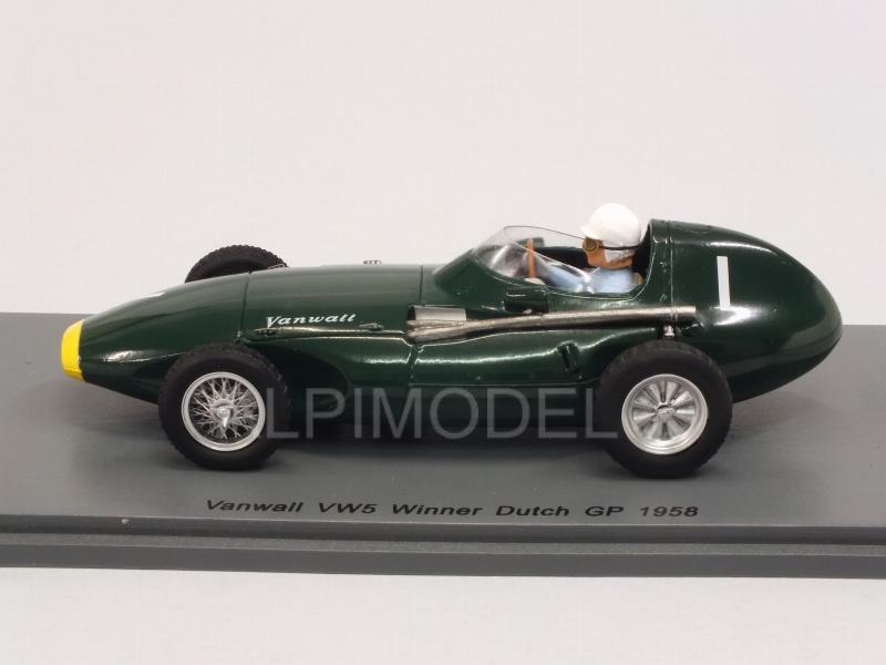Spark Vanwall VW5 #1 ganador holandés GP 1958-Stirling Moss 1//43 Escala