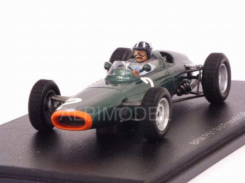 Spark 1:43 BRM P61 BRM V8 F1 Owen Racing GP Frankreich 1963 Graham Hill S5279