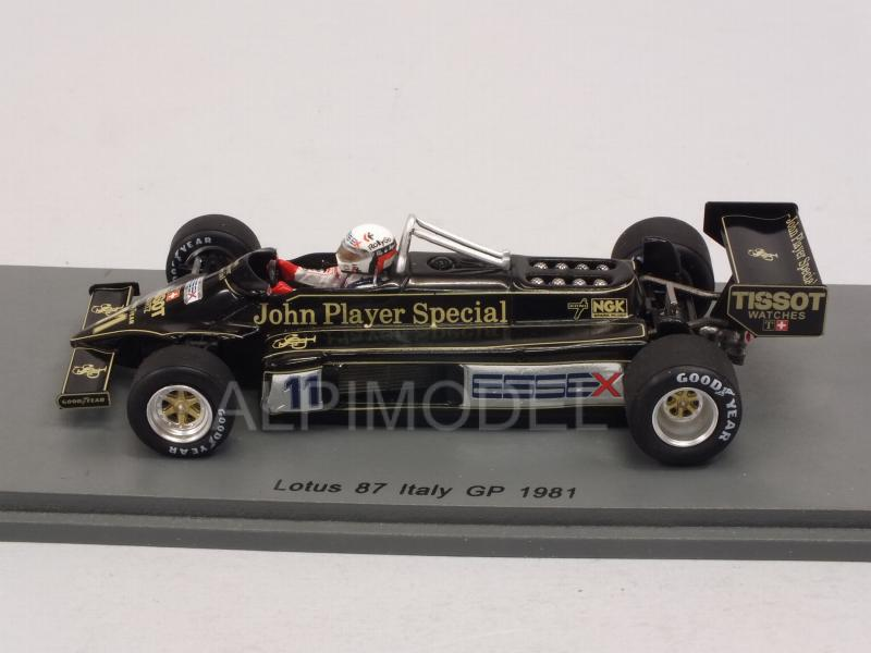 Lotus 87 #11 GP Italy 1981 Elio de Angelis - spark-model