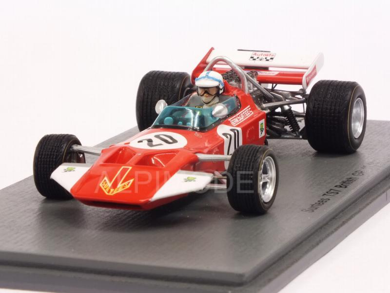 John Surtees 1//43 Scale Spark S5400 Surtees TS7 #20 British GP 1970