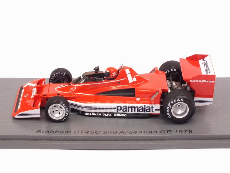 Brabham bt45c Alfa Romeo niki lauda fórmula 1 argentina 1978 1:43 Spark 7111