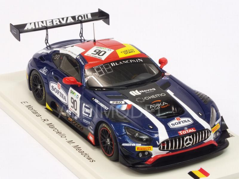 Mercedes AMG GT3 #90 24h Spa 2017 Mortara - Meadows - Marciello - spark-model
