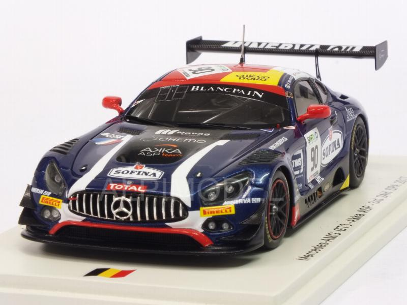 Mercedes AMG GT3 #90 24h Spa 2017 Mortara - Meadows - Marciello by spark-model