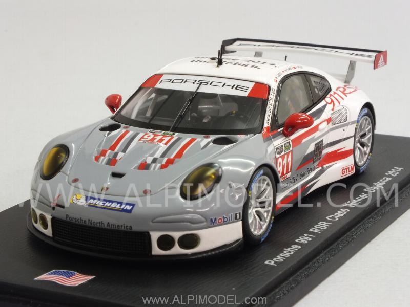 Spark Model Porsche 911 Rsr 997 911 Class Winner Daytona 2014