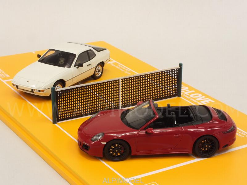 Porsche 924 1984 + 911 GTS 2017 Set 40th Anniversary Porsche Tennis Grand Prix (Porsche Promo) - spark-model