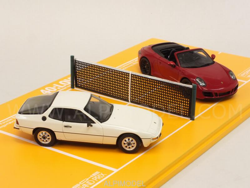 Porsche 924 1984 + 911 GTS 2017 Set 40th Anniversary Porsche Tennis Grand Prix (Porsche Promo) by spark-model