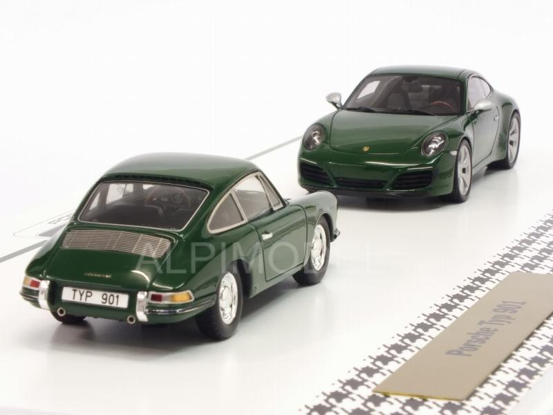 Porsche 901 + 911 Carrera S Anniversary  Set 'One Millionth' 2017 (Green) Porsche Promo - spark-model