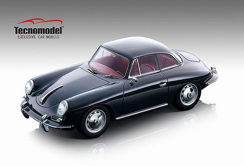 Porsche 356 Karmann Hardtop 1961 (Gloss Dark Grey) by tecnomodel