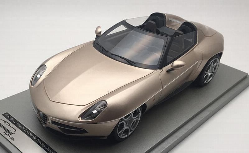 Alfa Romeo Disco Volante Spyder  by Touring Superleggera 2016  (Metallic Champagne) by tecnomodel