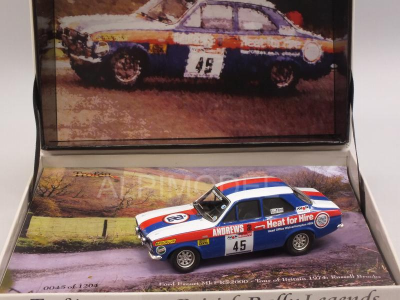 Ford Escort Mk1 RS2000 #45 Tour of Britain 1974 Russell Brooks  (Gift Box) - trofeu