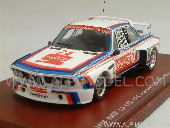 BMW 3.0 CLS #24 Coca Cola 24h  Daytona 1976 Hobbs - Parsons by true-scale-miniatures