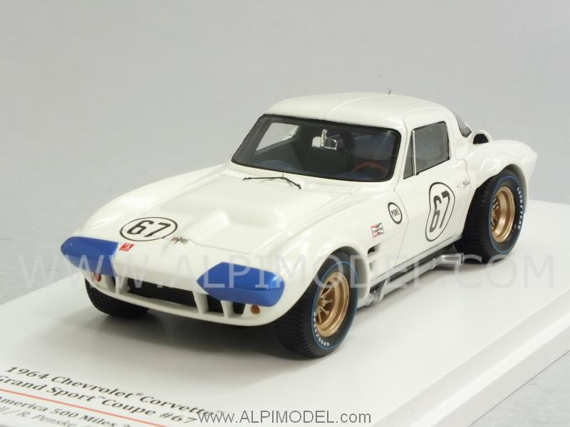 Chevrolet Grand Sport Coupe #67 500 Miles Road America 1964 Hall - Penske - Sharp by true-scale-miniatures