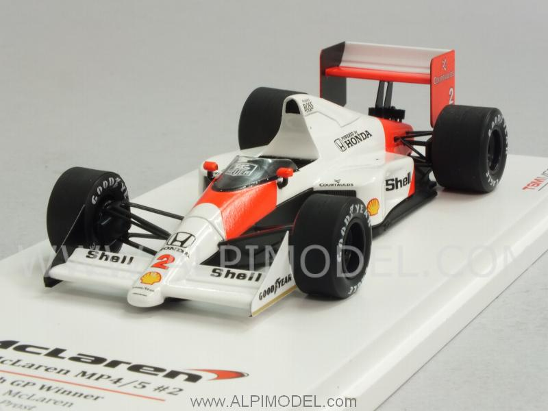 McLaren MP4/5 Winner GP France 1989 World Champion Alain Prost by true-scale-miniatures