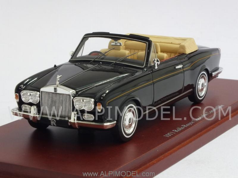 Rolls Royce Corniche Convertible 1971 (Black) by true-scale-miniatures