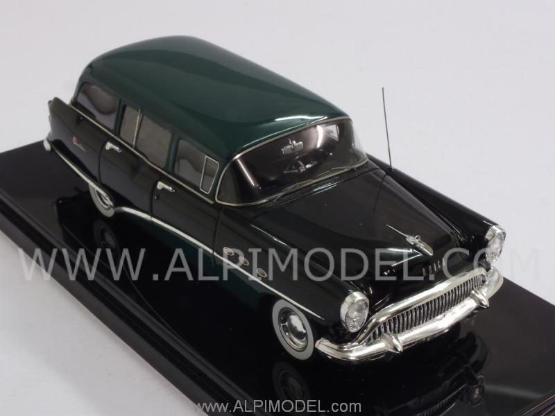 Buick Century Estate Wagon 1954 (Black/Green) - true-scale-miniatures