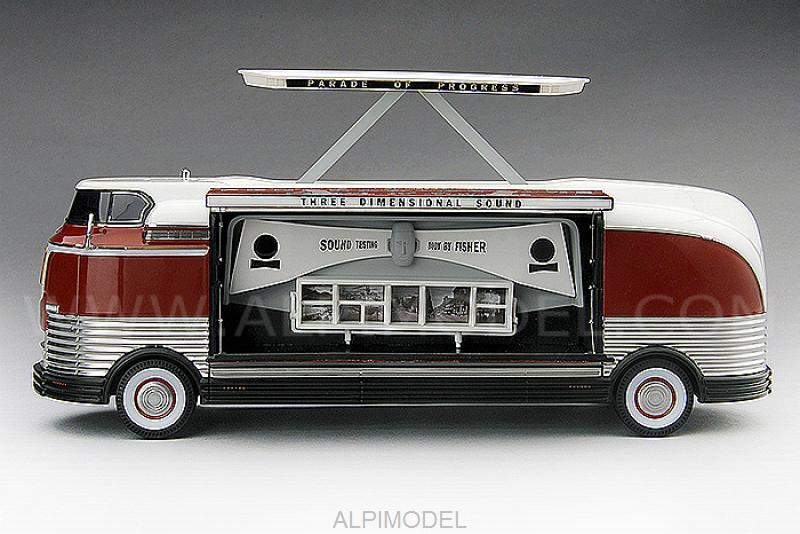 GM Futurliner Three Dimensional Sound GM Parade of Progress 1954 by true-scale-miniatures
