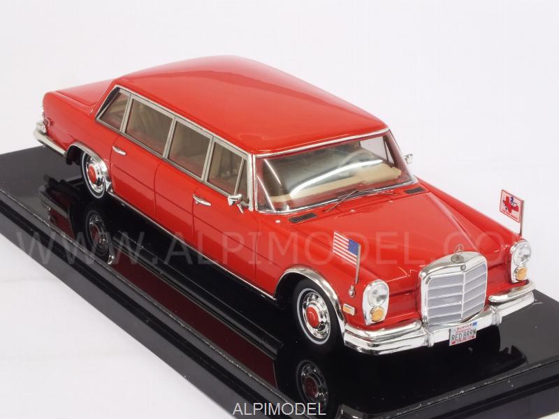 TRUE-SCALE-MINIATURES TSM154340 Mercedes 600 Pullman 1972 Red Baron